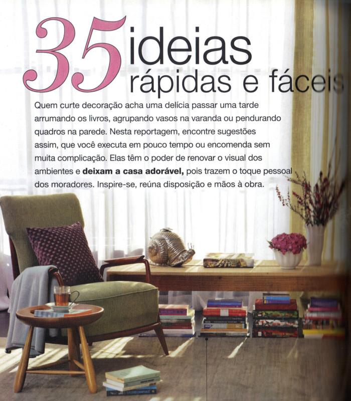 Mídia: Casa Claudia Junho 2011- Matéria