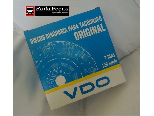 Destaques: Disco Tacógrafo 07 Dias VDO