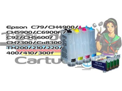 Bulk Ink: Bulk Ink Epson: Bulk Ink Epson C79 / CX4900 / CX5900 / C6900F / C92 / CX5600 / CX7300 / CX8300/ TX200/ 210/ 220/ 400/ 410/
