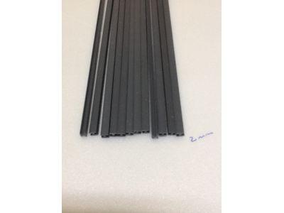 VARETAS EM PVC / ABS: VARETAS EM  PVC FORMATO H: 2mm